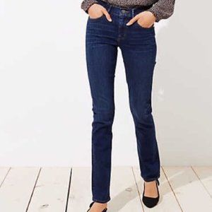 LOFT 27 / 4 Modern Straight Denim Blue Jeans Dark